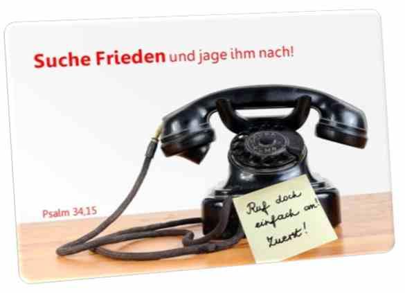 Postkarte Jahreslosung 2019 - Motiv: Nostalgisches Telefon - JL 2019 lt. ÖAB