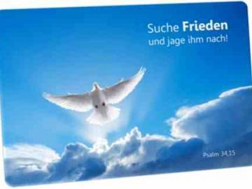Jahreslosung 2019 Postkarte - Motiv: Weiße Taube