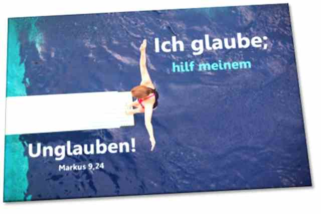 Poster Jahreslosung 2020  - Motiv: Turmspringerin - Plakat DIN A 4  u. A3 ✅
