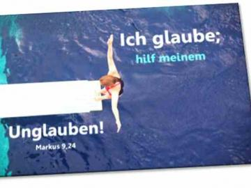 Poster Jahreslosung 2020  - Motiv: Turmspringerin - Plakat DIN A 4