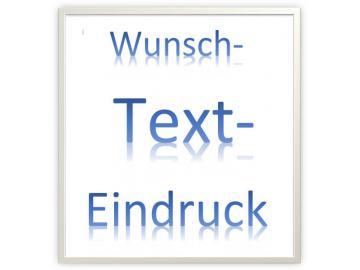 Wunschtext-Eindruck für Ihre Karte(n): Eingestalten und Eindruck