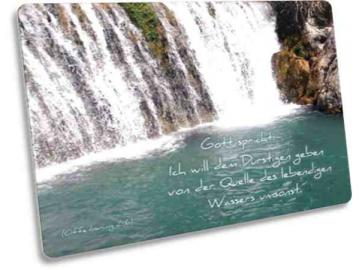 Jahreslosung 2018 Postkarte - Motiv: Wasserfall