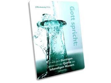 Jahreslosung 2018 Postkarte - Motiv: Wasserflasche