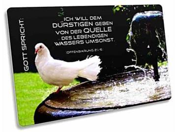 Jahreslosung 2018 Postkarte - Motiv: Taube am Brunnenrand