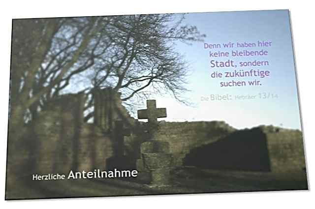 Christliche Trauerkarte: Banter Ruine - Kondolenzkarte