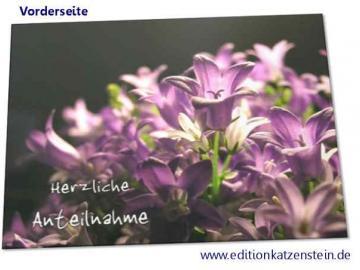 Christliche Trauerkarte: Ballonblumen - sehr tröstlich