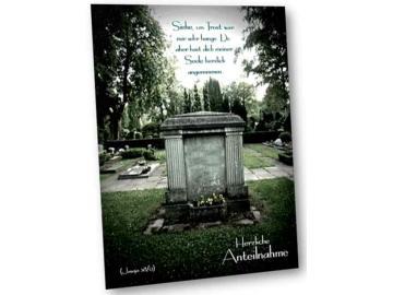 Christliche Kondolenzkarte: Alter Friedhof -  Bibelvers Jesaja 38,7