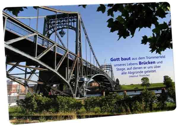Christliche Postkarte: Kaiser-Wilhelm-Brücke im Sommer