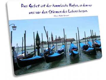 Christliche Postkarte: Gondeln in Venedig