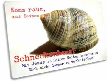 Christliche Postkarte: Schneckenhaus - Karte zur Ermutigung