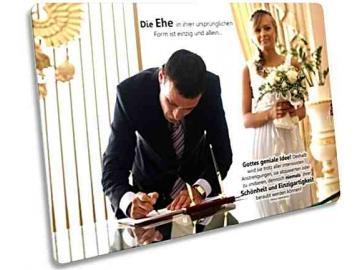 Christliche Postkarte : Brautpaar auf Standesamt