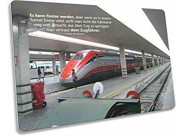Christliche Postkarte: Italienischer Hochgeschwindigkeitszug