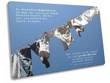 Christliche Postkarte: Jeanshosen auf Wäscheleine - Zitat von Corrie ten Boom