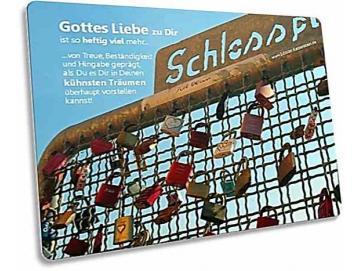 Christliche Postkarte: Liebesschlösser