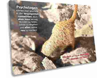 Christliche Postkarte: Erdmännchen beim Graben