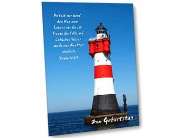 Christliche Geburtstagskarte: Leuchtturm Roter Sand I