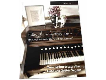 Christliche Geburtstagskarte: Antikes Harmonium - Karte Geburtstag