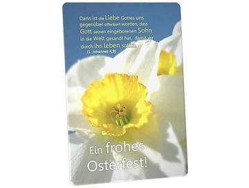 Christliche Osterkarte: Narzissenblüte II