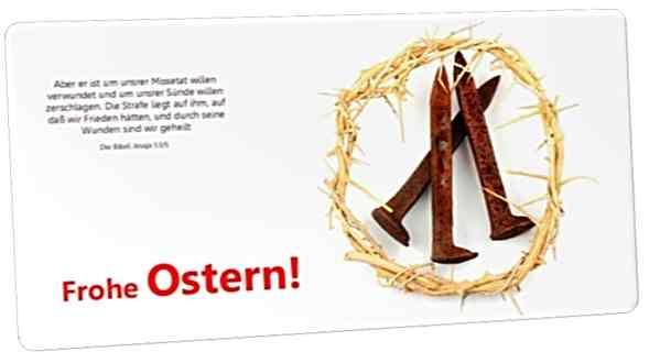 Christliche Osterkarte Maxicard: Dornenkrone und rostige Nägel