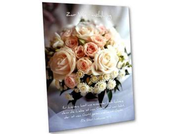 Christliche Vermählungskarte: Brautstrauß