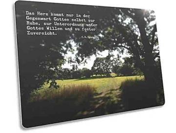 Christliche Postkarte: Waldlichtung - Zitat C.H.Spurgeon
