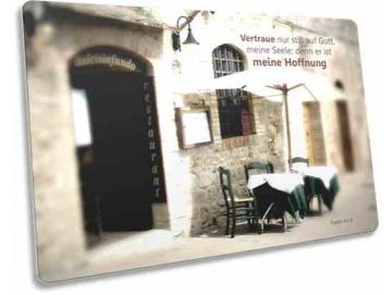 Christliche Postkarte: Trattoria
