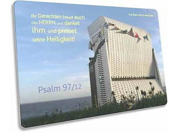 Christliche Postkarte Motiv: Weißer Strandkorb