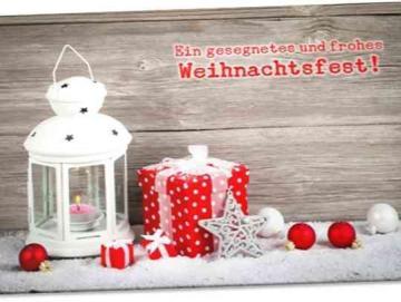 Christliche Weihnachtskarte: Weihnachtslaterne