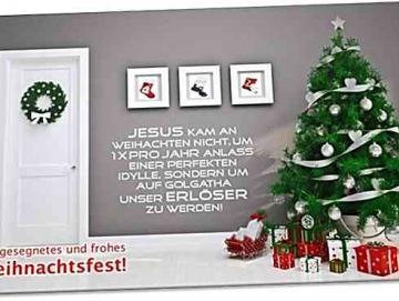 Christliche Weihnachtskarte: Perfekte Weihnachtsidylle