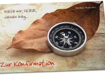 Christliche Konfirmationskarte: Kompas
