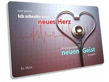 Jahreslosung 2017 Postkarte - Motiv: Stethoskop vor EKG-Aufzeichnung