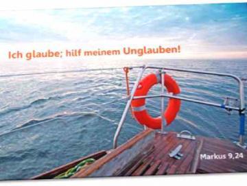 Poster Jahreslosung 2020  - Motiv: Rettungsring - Plakat DIN A 4  u. A3 ✅