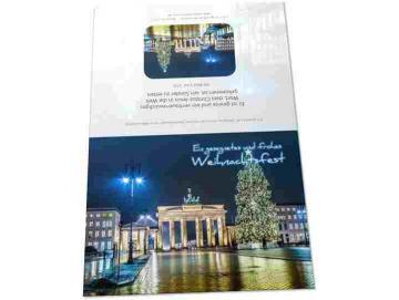 Christliche Weihnachtskarte: Brandenburger Tor