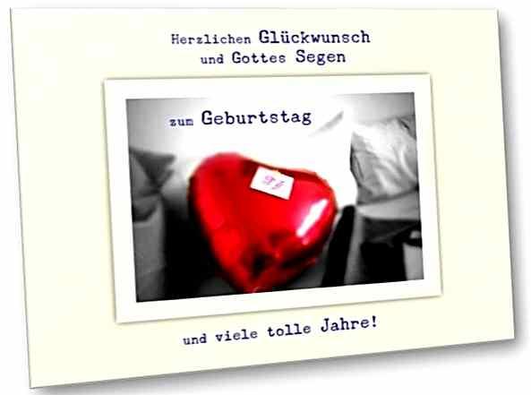 Geburtstagskarte, christlich: Roter Ballon - Faltkarte m. Kuvert