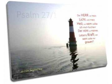 Christliche Postkarten: Arngaster Leuchtturm im Gegenlicht