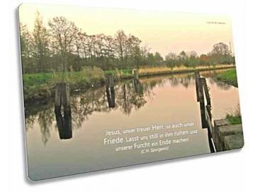 Christliche Postkarte: Abendidylle am Ems-Jade-Kanal