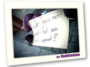 Christliche Konfirmationskarte: Robert der Straßenevangelist