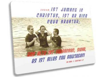 Christliche Postkarte: Freudige Taufszene - Taufe