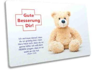 Christliche Postkarte Motiv: Teddybär - Psalm: Psalm 13,6