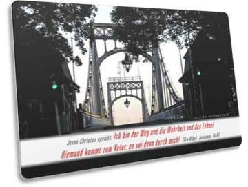 Christliche Karte: Kaiser-Wilhelm-Brücke verträumt