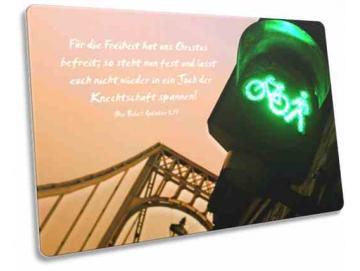 Christliche Karte: Fußgängerampel vor KW Brücke