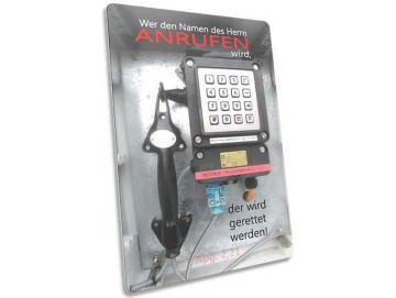 Christliche Postkarte: Notfalltelefon - Apg. 2,21