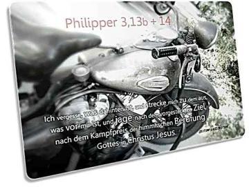 Christliche Postkarte - Historisches Motorrad
