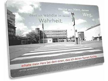 Christliche Postkarte: Zebrastreifen