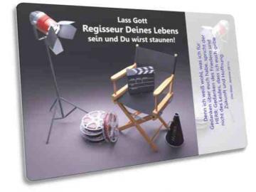 Christliche Postkarte Motiv: Regiestuhl