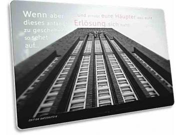 Christliche Postkarte: Rathausturm u. Uhr