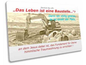 Christliche Postkarte: Baustelle