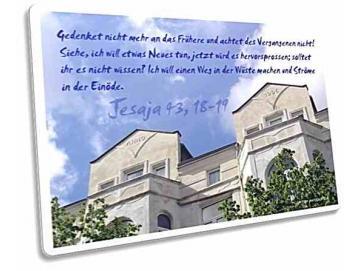 Christliche Postkarte: Gründerzeitfassade Anno 1906 - Jesaja 43,18-19