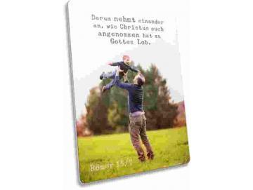 Christliche Postkarte: Vater und Sohn