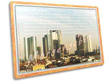 Christliche Postkarte: Skyline Frankfurt - Morgengebet